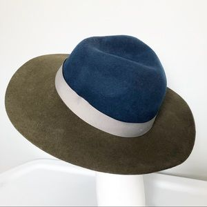 Urban Outfitters Blue Grey Green Wool Floppy Hat